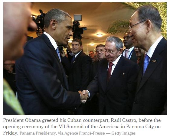 The Shake heard around the world: President Obama Shakes Castro's Hand